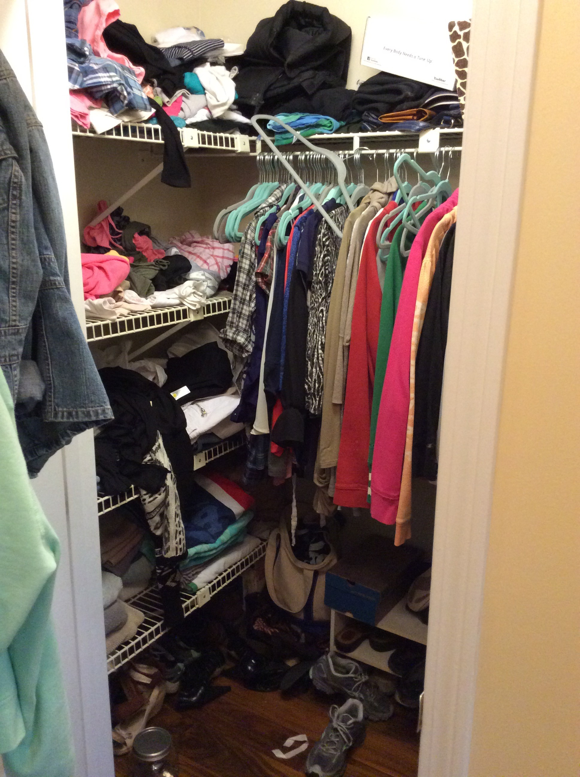 Closet Disaster – Fall is here… Time to clean out my closet!